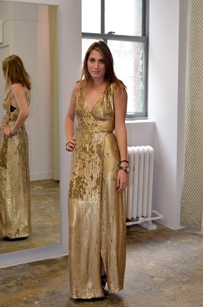 0b92a525073 Clarice Gold Sequin Gown by Diane von Furstenberg for  185