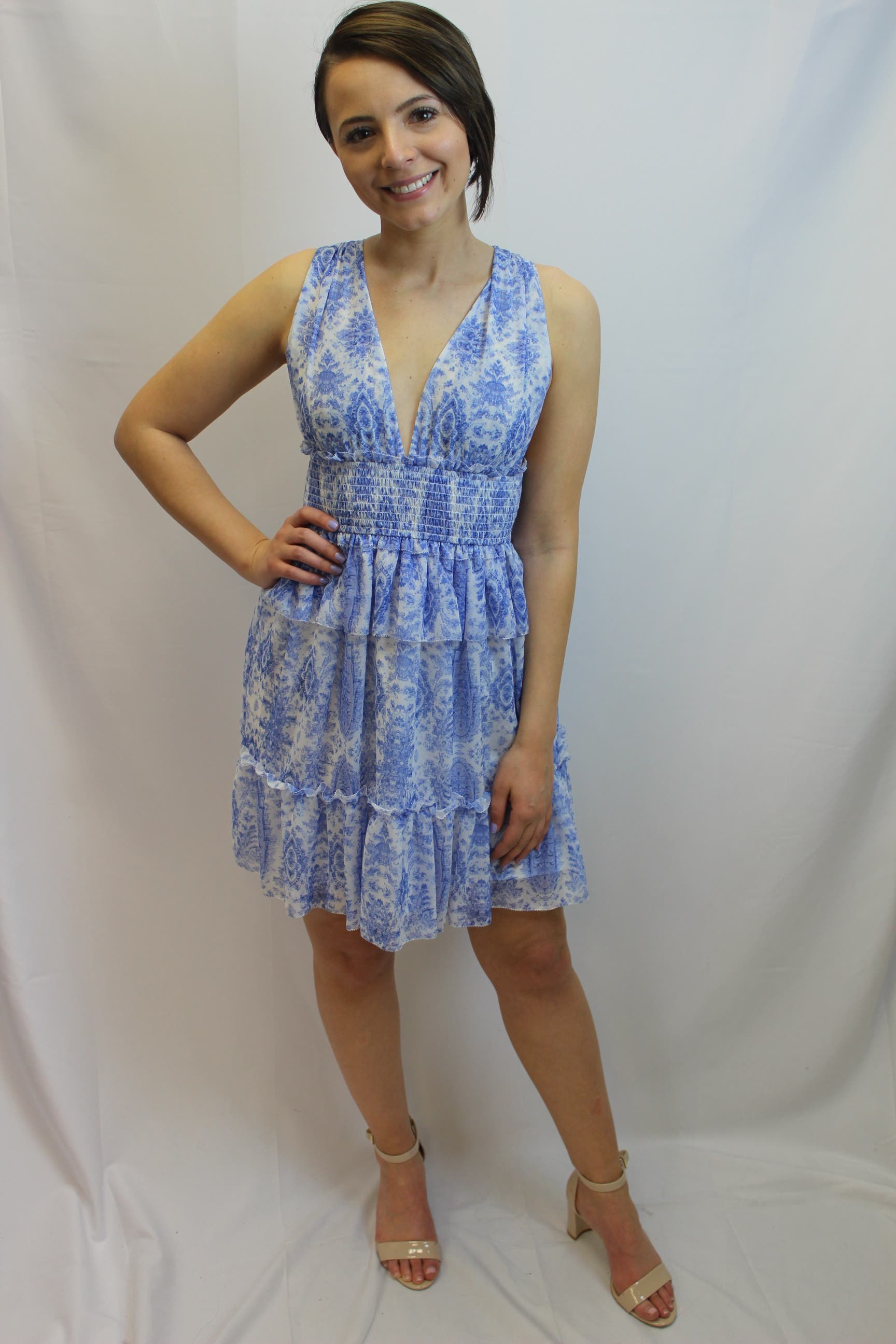33ee49ec6 Blue Abstract Holly Dress by Saylor for  40 -  57