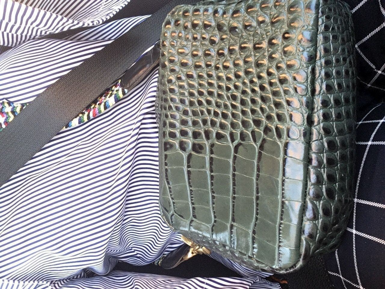 3a18fd7de Loden Croc Midi Sac by Clare V. for $45 | Rent the Runway