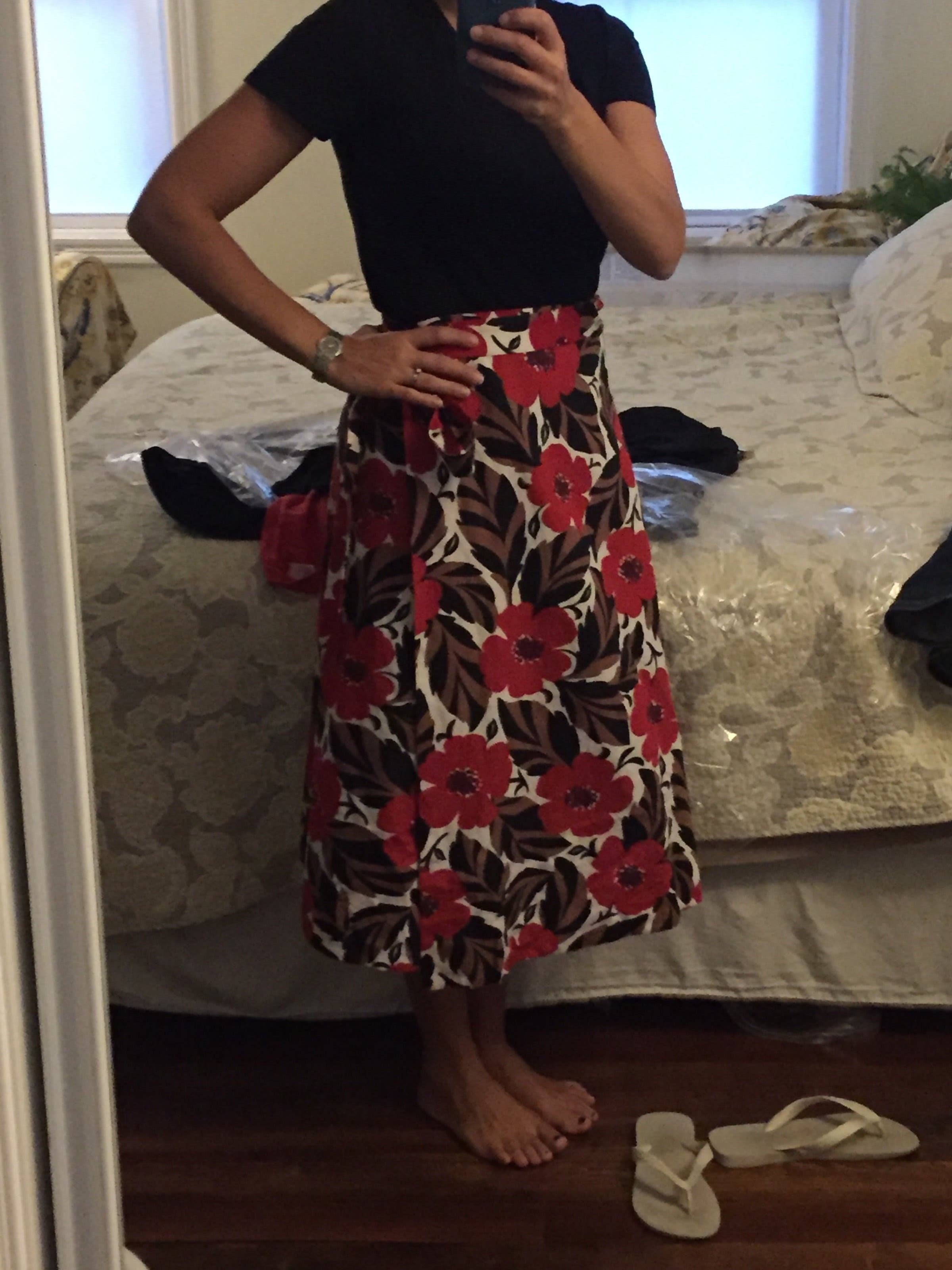 59d5976efd Poppy Field Wrap Skirt by kate spade new york for $45 | Rent the Runway