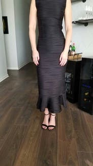 Black Lotus Flutter Dress By Opening Ceremony For 50