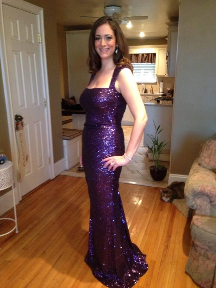 3129ef9e1a Rent Sequin Tyrian Purple Gown from Nicole Miller - 240526