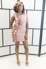 Pink Side Ruffle Dress By Msgm For 80 Rent The Runway