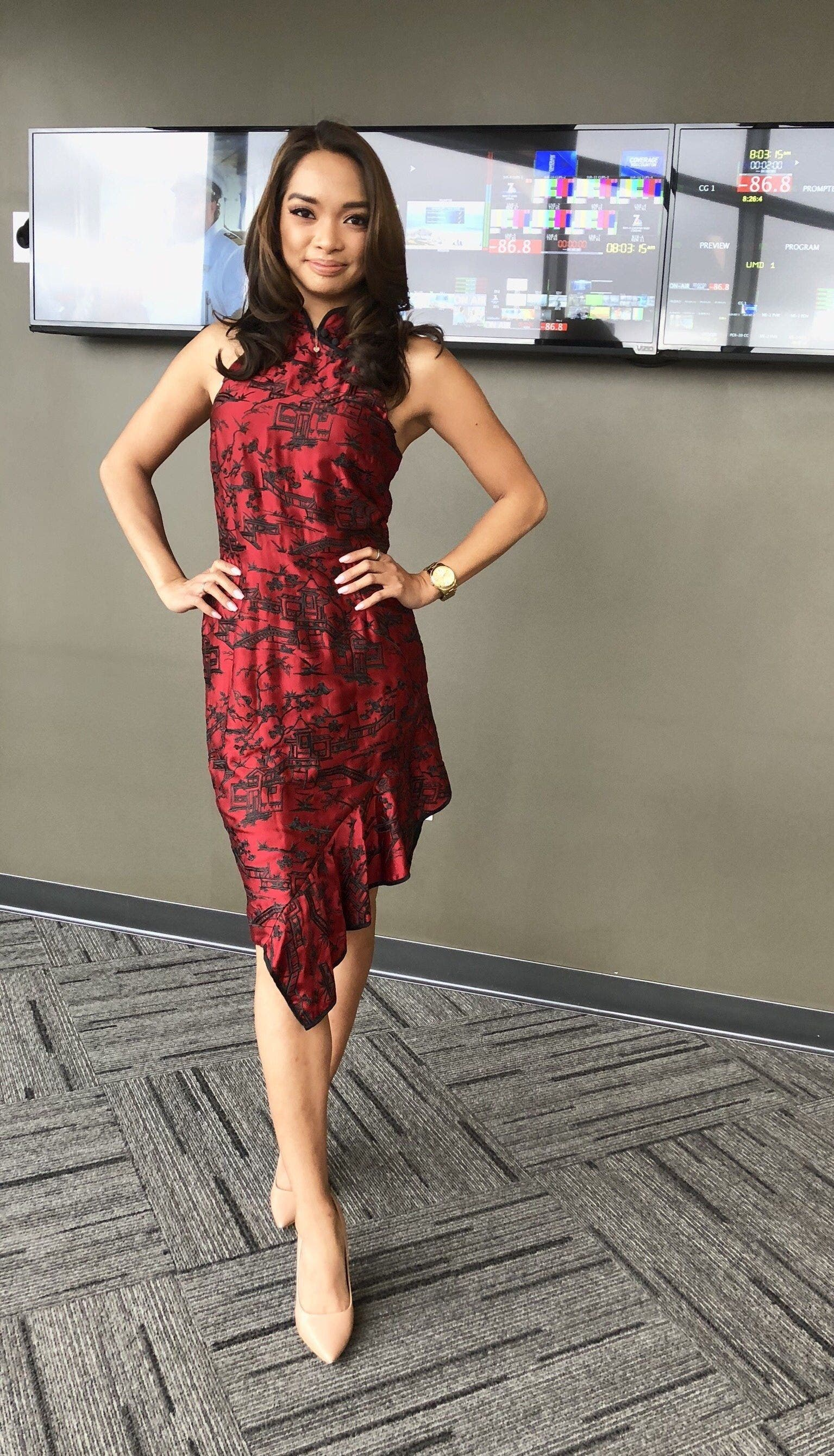 a4d4201fc Red Cheongsam Dress by Josie Natori for $90   Rent the Runway