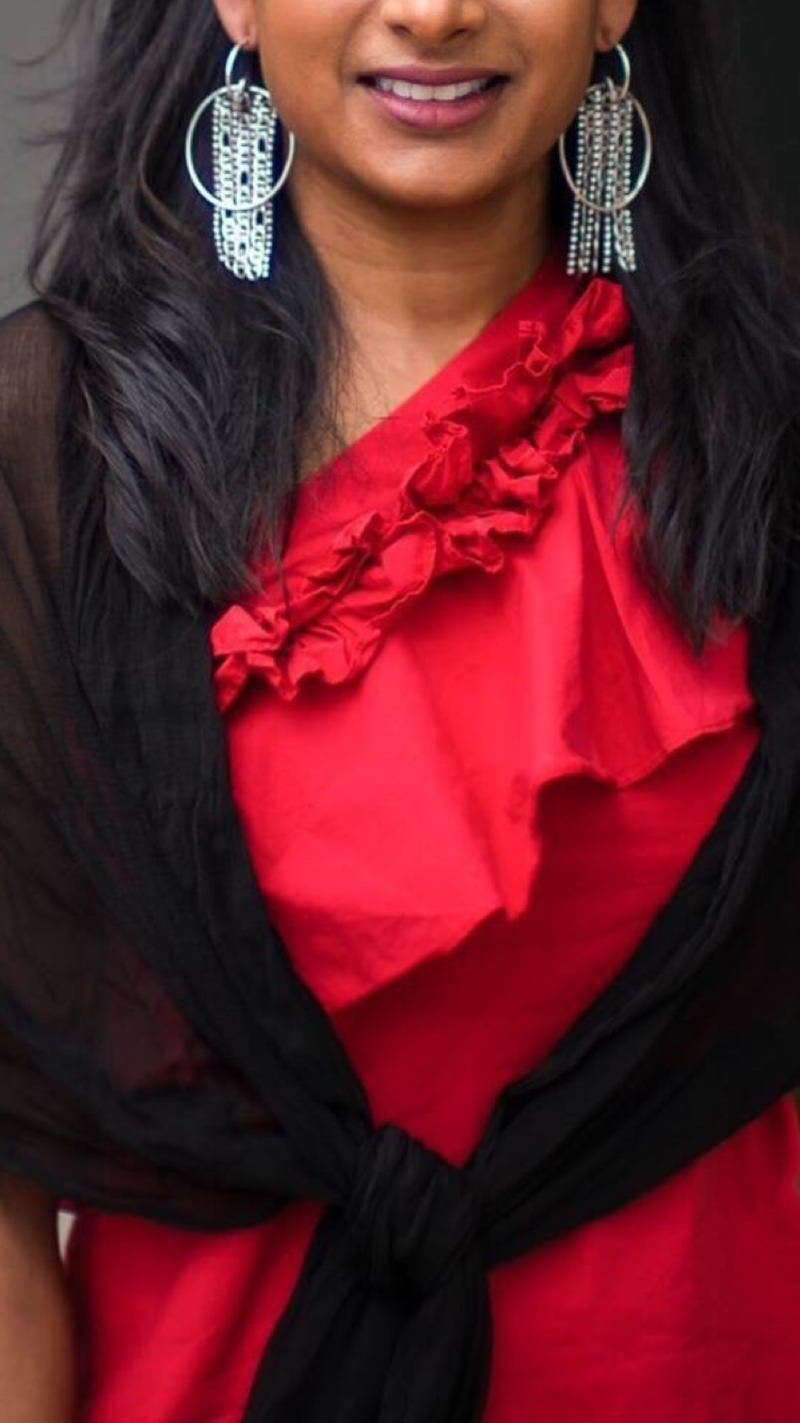 4db77abfab8 Red Esme Top by SALONI for  55