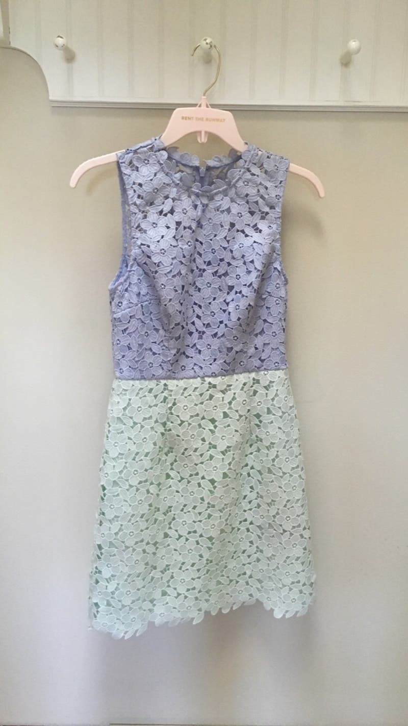 06394a26 Rent Periwinkle Pistachio Block Up Sheath from Cynthia Rowley - 676634    Rent the Runway