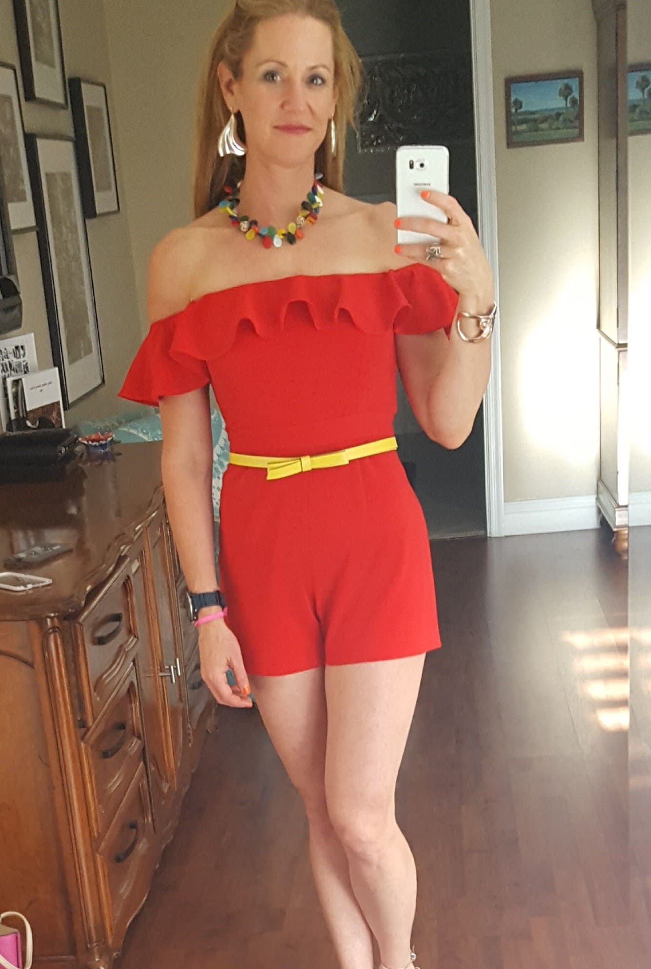 95270b7392d40 Red Bianca Romper by Jay Godfrey for  60 -  75