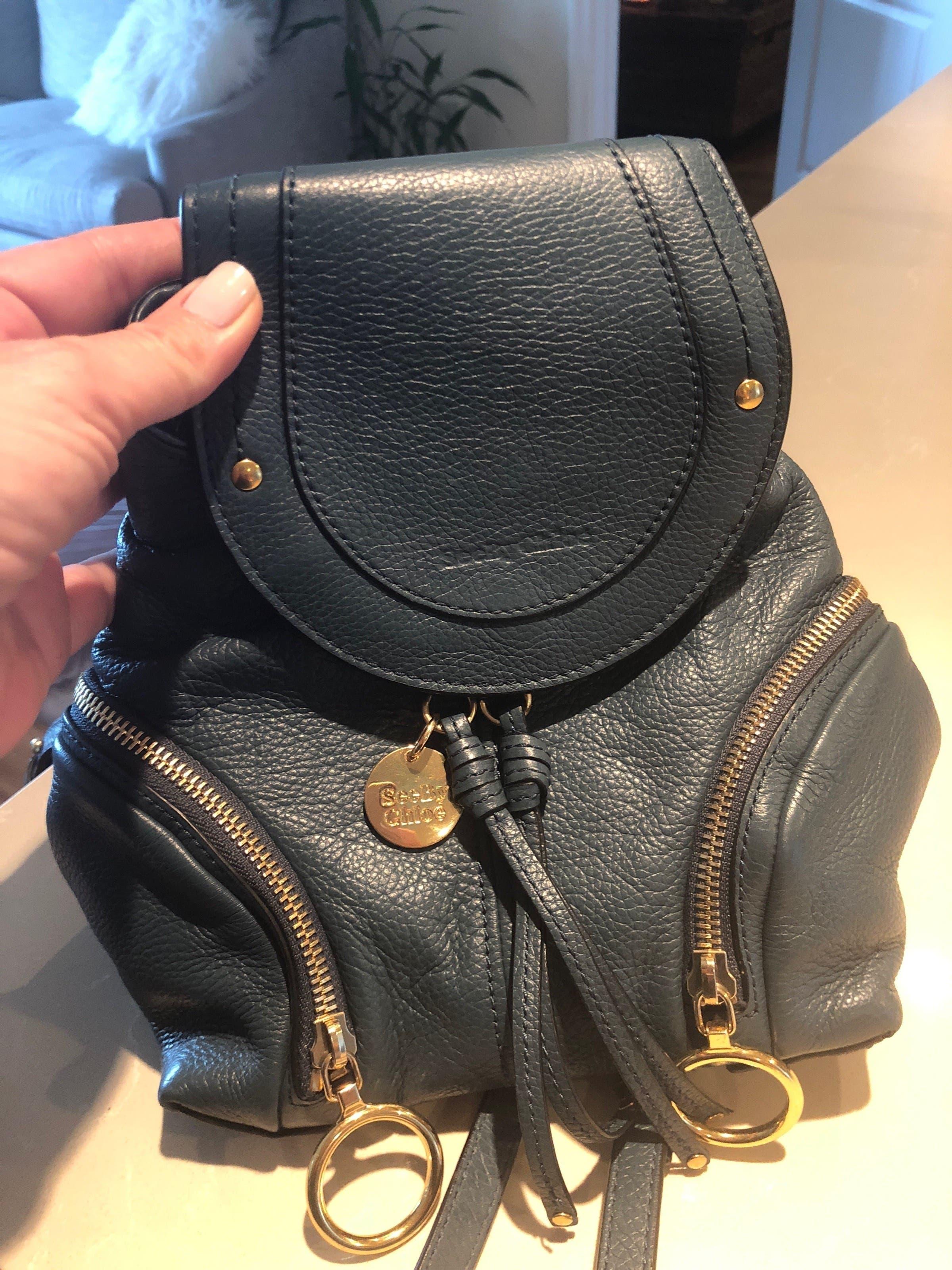 3d1a3c8b See by Chloe Accessories Blue Olga Backpack